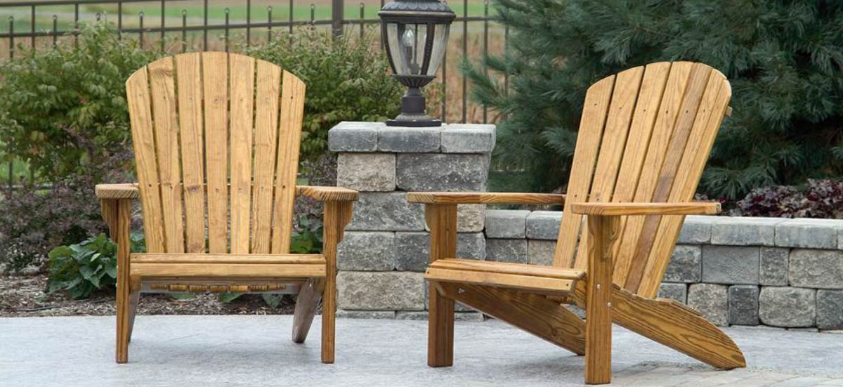 Amish Wood Outdoor Furniture