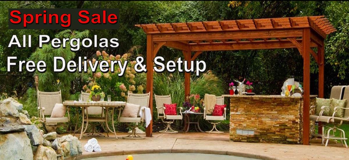 Spring Sale on our Amish Build Gazebos - Pergolas - Pavillians