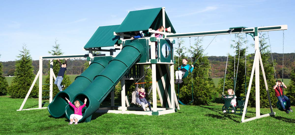 Vinyl Swing Sets and Playsets
