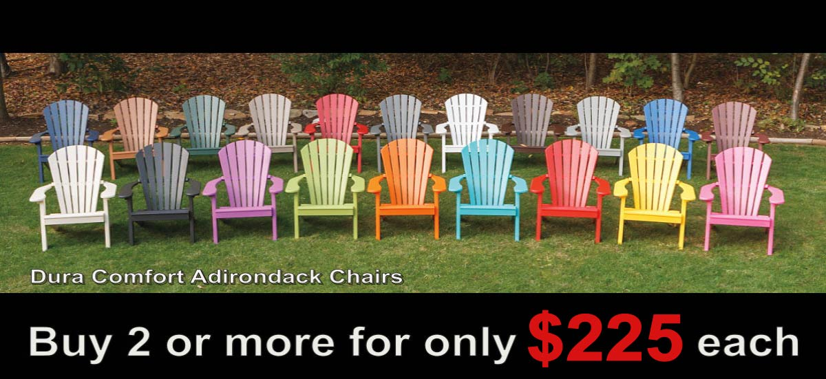 2018 Black Friday Sales DuraComfort Poly Adirondack Patio Chairs