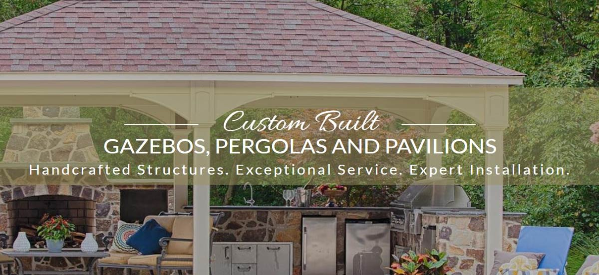 Amish Build Gazebos - Pergolas - Pavillians