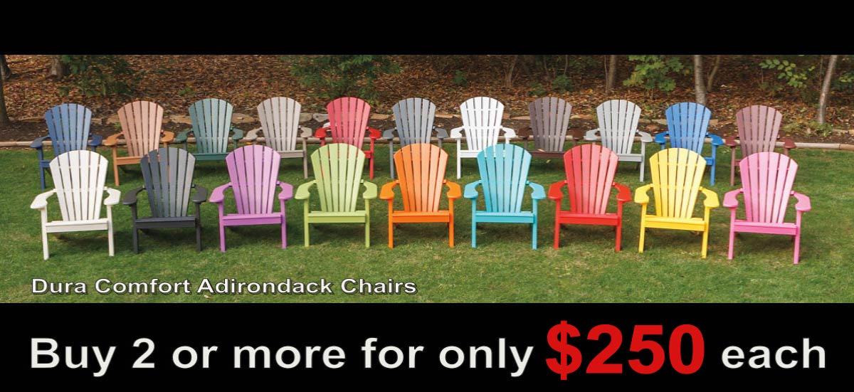 DuraComfort Poly Adirondack Patio Chairs