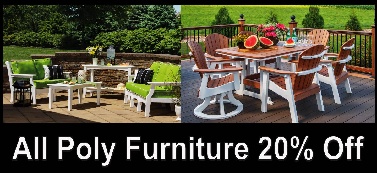 Casual Comfort Outdoor Poly Furniture Dining Deep Seating