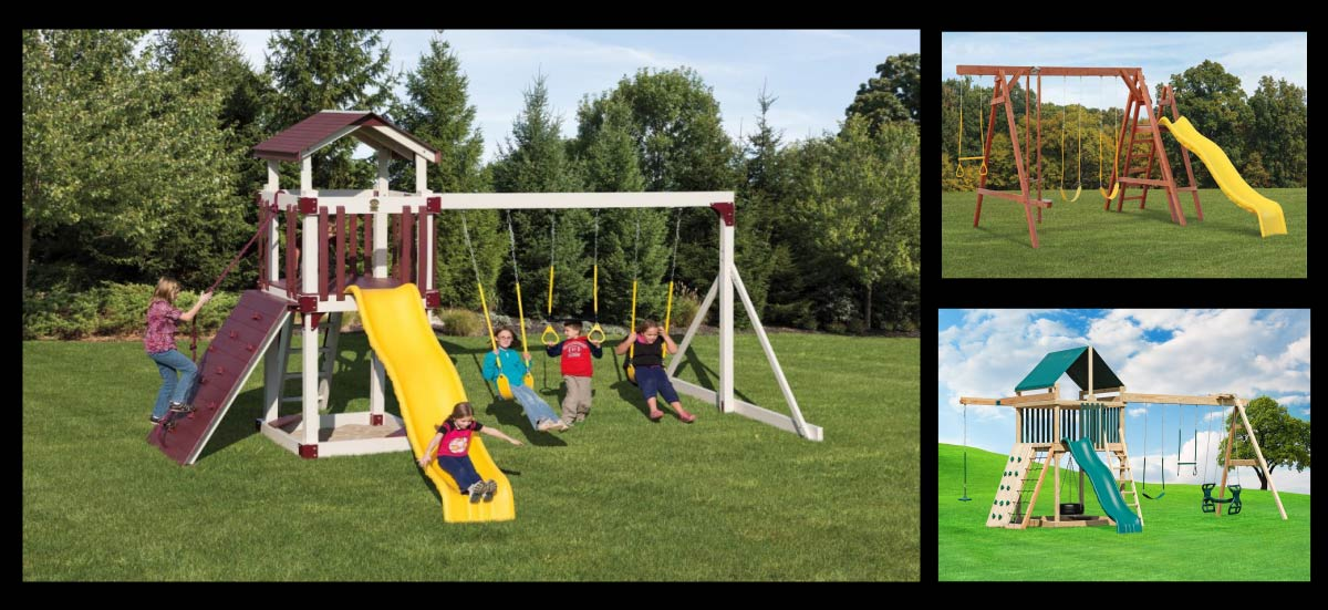 Vinyl And Wood Swingsets Playhouses Playsets Baltimore Annapolis Md