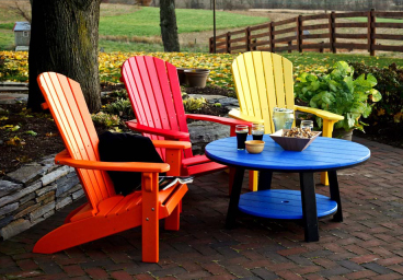Casual Comfort Poly Adirondack Patio Chairs