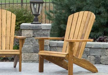 Leisure Lawn Traditional Amish Wooden Adirondack Chairs