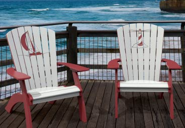 Sea Breeze Casual Adirondack Chairs