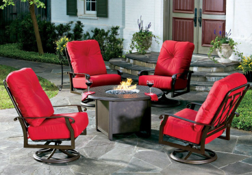 Cast Aluminum Patio Lounge & Dining Sets