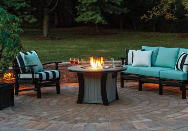 Casual Comfort Firepit Table