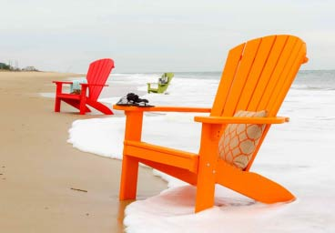 Finch Adirondack Chairs at the Beach