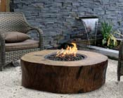 Burning Stump Gas Firepit
