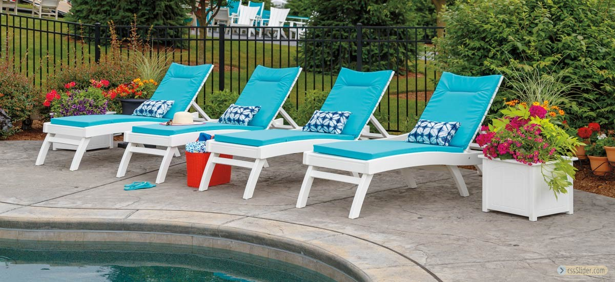 Casual-Comfort-White-Poly-Chaise-Launge-with-Cushions-by-the-Pool-For-sale-Grasonville-Maryland